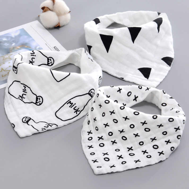 Baby Bibs Boy Girl Bandana Water Absorb Bib Burp Cloth Triangle Cotton  Scarf   Christmas Accessories
