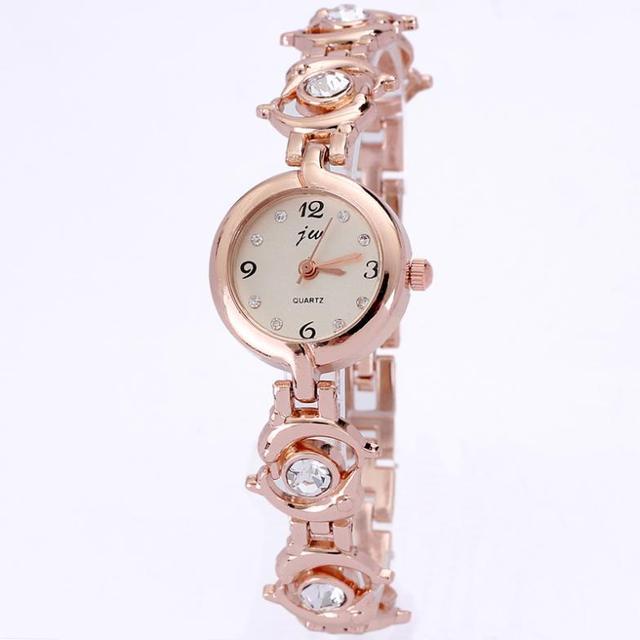 Ladies bracelet king girl watch quartz luxury crystal diamonds dolphin design chain round dail with s dropship wholesale