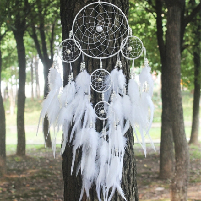 India Style White Dream Catcher Hanging Decorations For Car Room Amazing Dream Catcher To Hang In Car