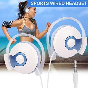 Universal EarHook Earphone Noise Isolation 3.5mm on Ear Headphones Computer Wired Headset Mp3
