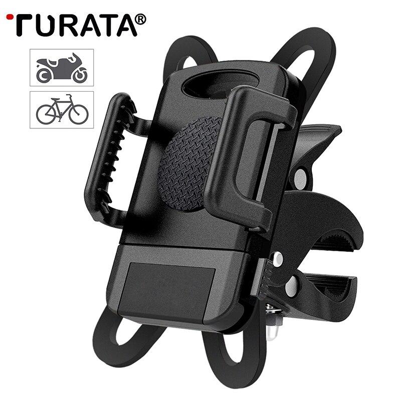TURATA Bicicletta Supporto Del Telefono Universale Della Bicicletta Supporto per Moto 360 Culla Rotativo Morsetto Bike Mount Holder Per iPhone X Samsung
