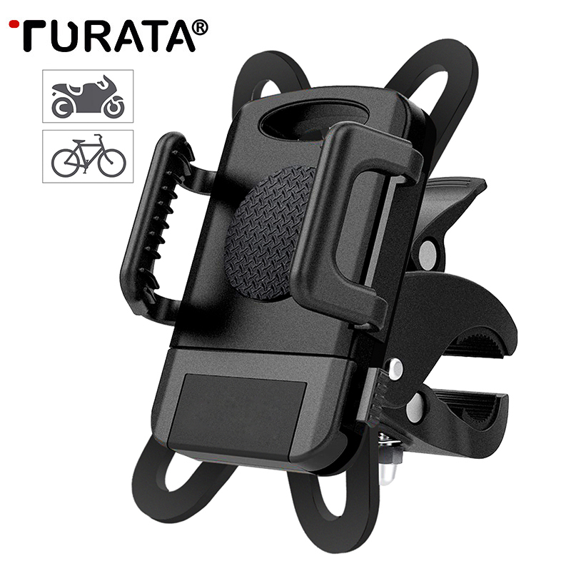 TURATA Bicycle Phone Holder Universal Bicycle Motorcycle Mount 360 Rotatable Cradle Clamp Bike Mount Holder For iPhone X Samsung