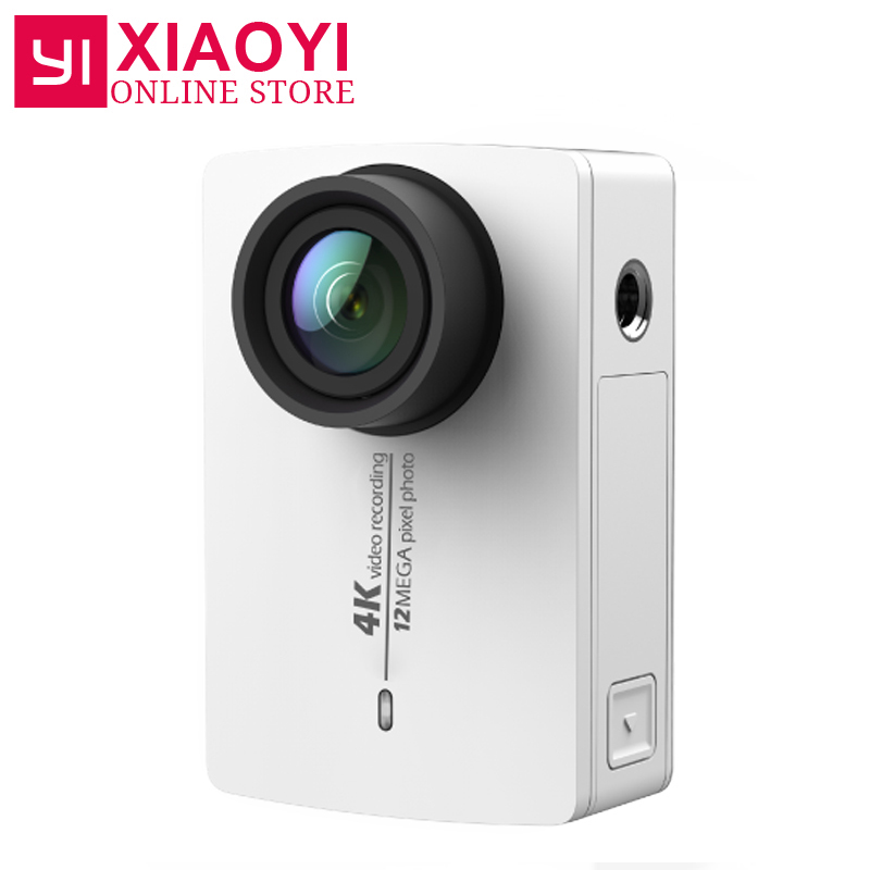 Original New Arrival YI 4K Action Sport Camera Xiaoyi 2 II 2.19 Retina Screen Ambarella A9SE75 12MP 155Wide 1400mAh for Xiaomi xiaomi yi 4k accessories protective frame case lens cover for xiaomi yi 2 ii 4k xiaoyi sport action camera case aluminum alloy