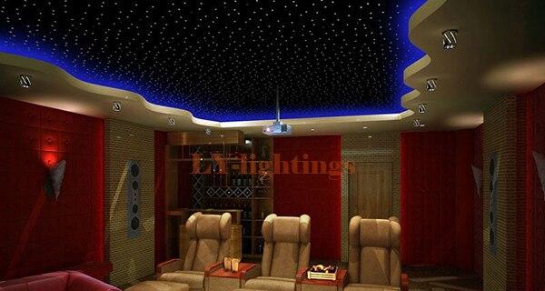 home decoration optic fiber light kit led light engine+200pcsx0.75mmx2m fibres endglow RGB color change ceiling light IR remote
