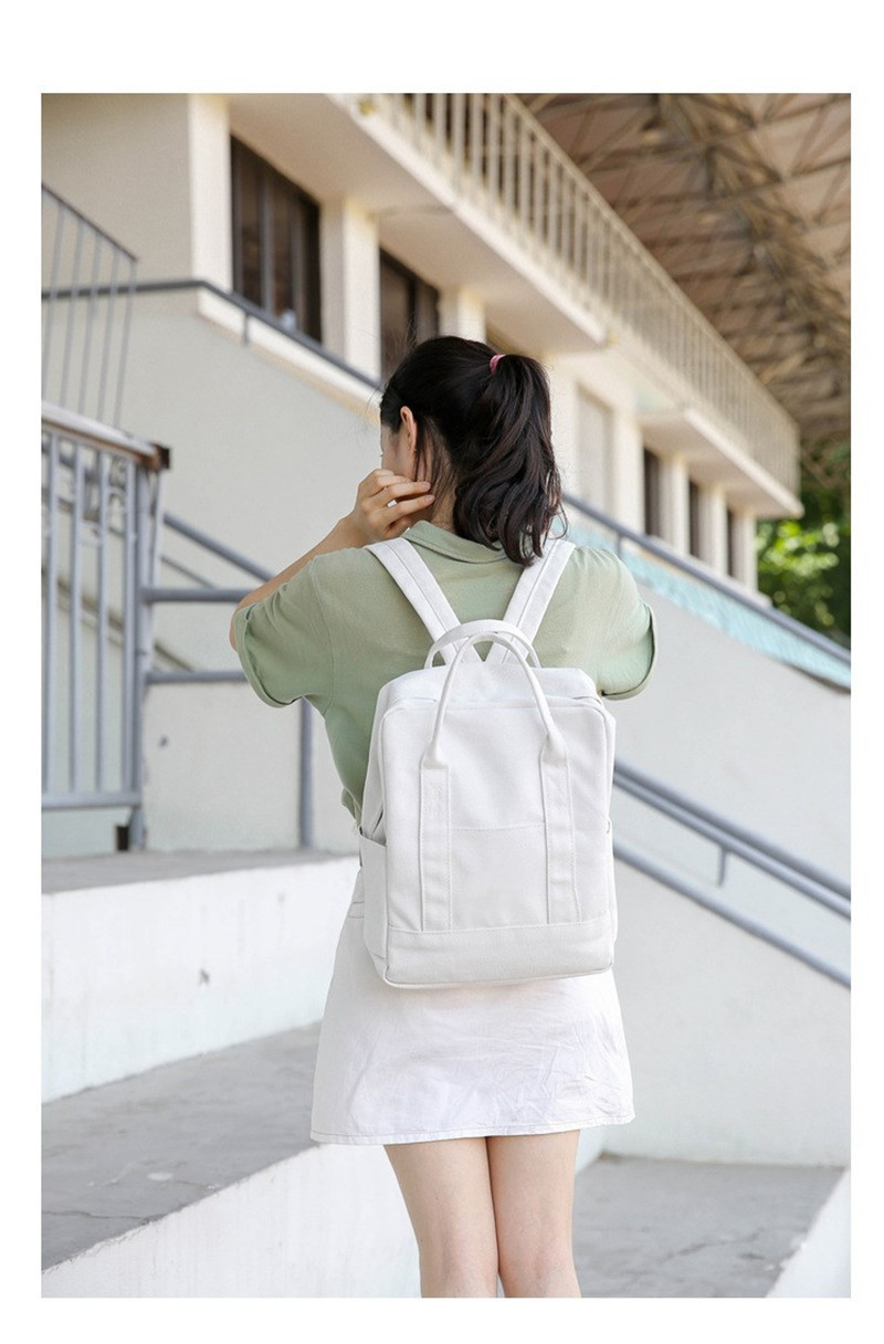 Laptop Backpack Women 2018 Solid School Bags For Teenager Girls Black White  Protection Lady Leisure Cartable Feminina cc218de2268e9