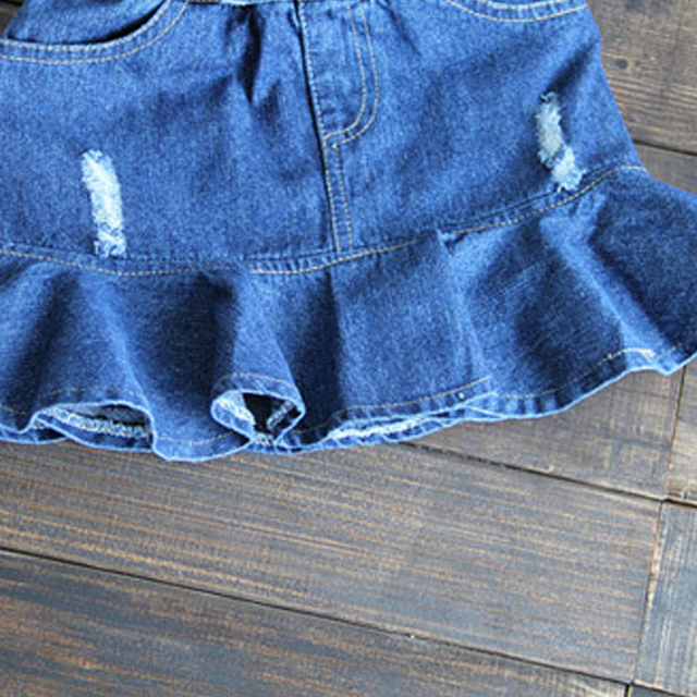 Girls' Casual Skirt with Ruffles