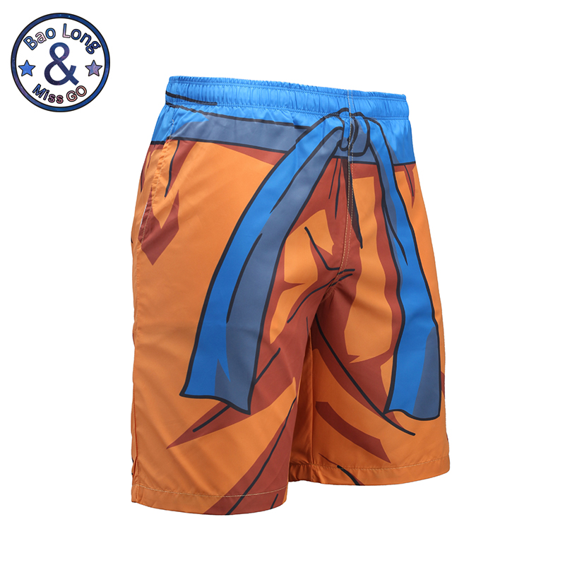 Mr.BaoLong 3D Mens Beach Shorts Anime Print Dragon Ball GOKU Harajuku Boardshorts