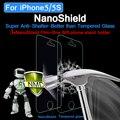 Nanoshield antichoque protector de pantalla para apple iphone 5 5s 5c película protectora de pantalla de cine para iphone5 anti-shatter 3 unids frente