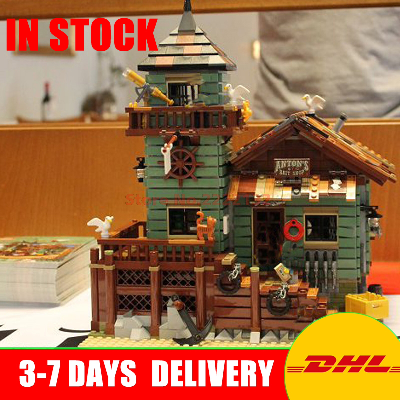 DHL LEPIN  16050 2109Pcs Creative MOC Series The Old Finishing Store Set Children Educational Building Blocks Bricks Toys 21310 lepin 16050 the old finishing store set moc series 21310 building blocks bricks educational children diy toys christmas gift