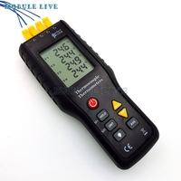 4 Channel K Type Digital Thermometer Thermocouple Sensor 200~1372 Celsius /2501 Fahrenheit New
