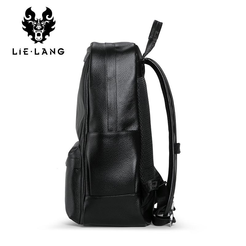 LIELANG hommes véritable sac à dos en cuir de vache ordinateur portable homme sac d'école de haute qualité hommes sac à dos Style décontracté sac de voyage - 2