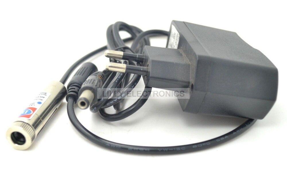 Focusable Laser Module Violet-blue Cross Laser Generator Diode 50mW 405nm 5v