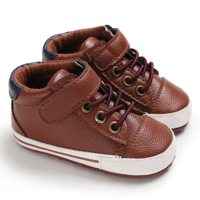 baby boy shoes PU sole shoe for baby