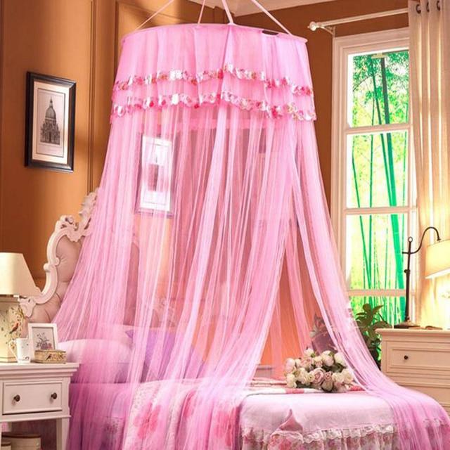 t princesse moustiquaire lit baldaquin rideau adultes klamboe circulaire accroch d me. Black Bedroom Furniture Sets. Home Design Ideas