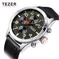 TEZER Casual Fashion Watch Men's Watch Business Watches Luxury Quartz-watch Military Army Wristwatches Relogio Masculino