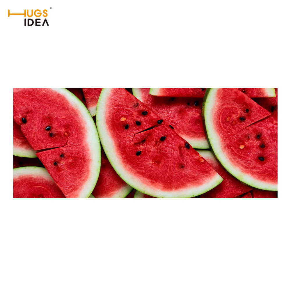 HUGSIDEA 3D Fruits Printing Stairs Mat Watermelon Orange Strawberry Pattern Floor Staircase Carpet Soft Stairway Tread Step Rugs