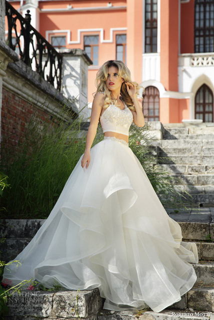 White Organza Prom Dress