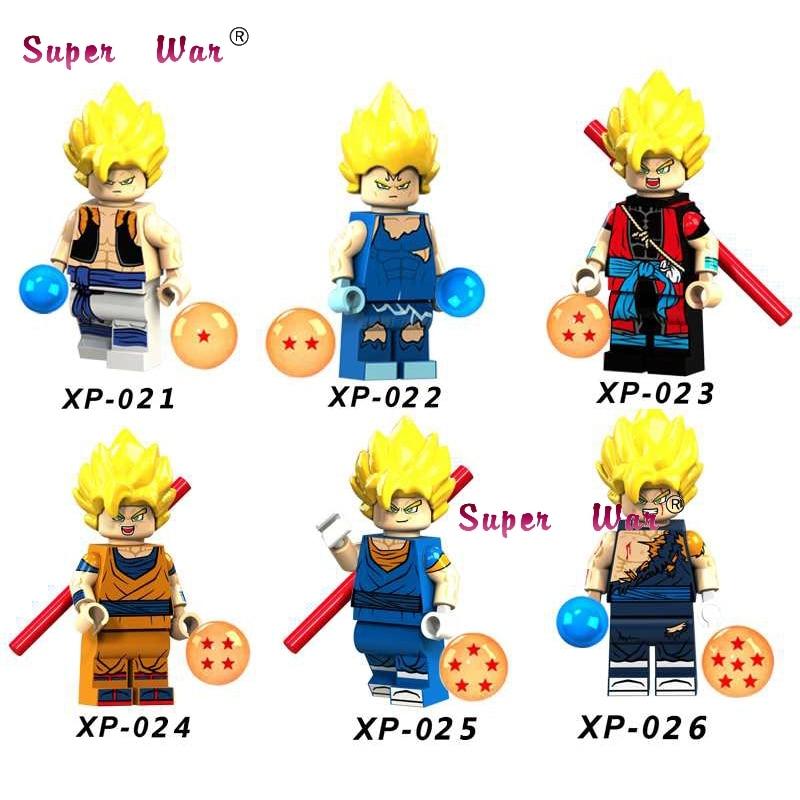 50pcs Building Blocks Dragon Ball Z Goku Vegeta Hope Deadpool Red Arrow FireMister Terrific for kids