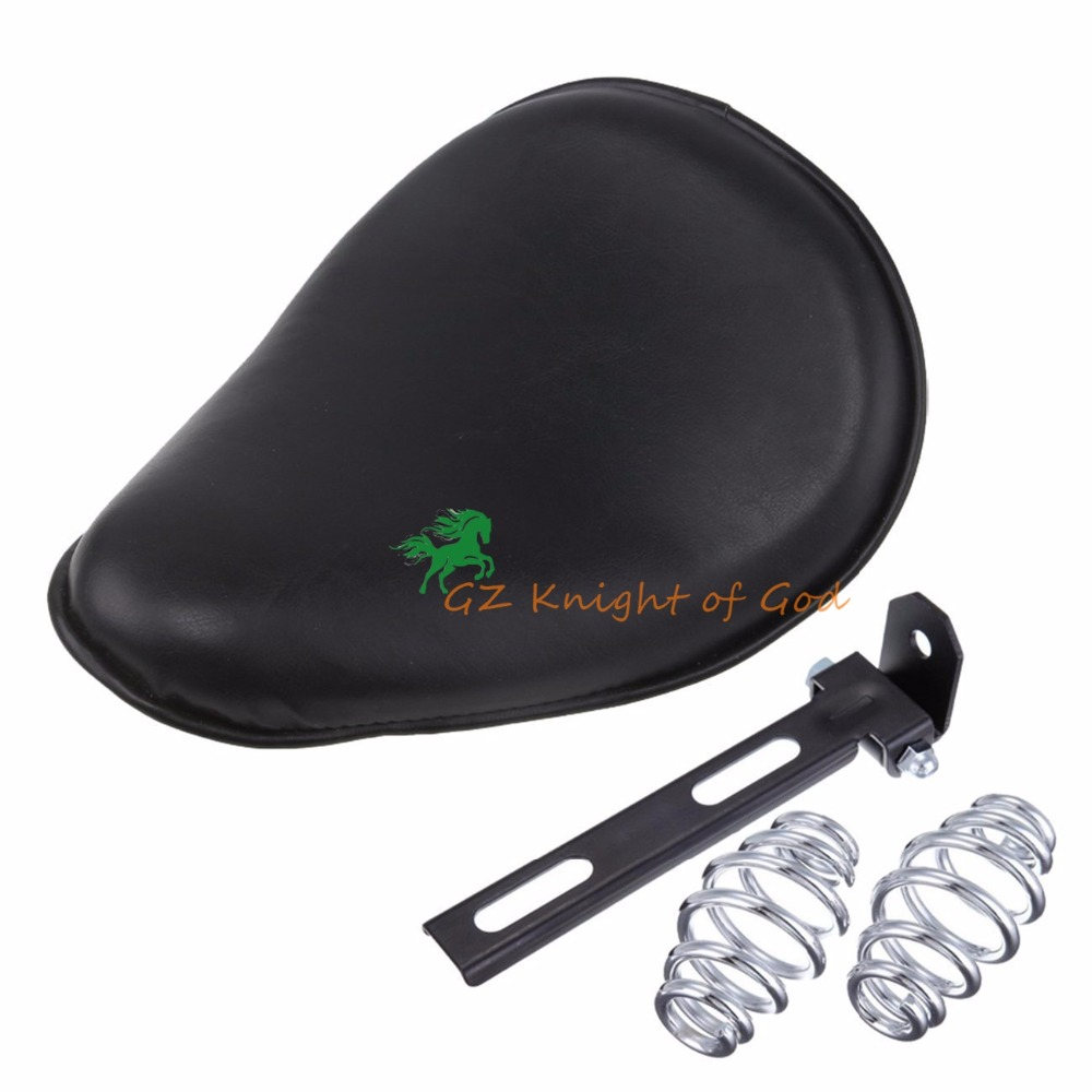 Leather Motorcycle Custom Solo Spring Bracket Seat Hard Bottom For Harley Honda Sportster Bobber Yamaha Custom application