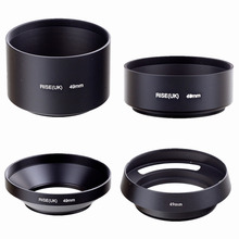 49mm standard telephoto wide angle vented curved metal lens hood kit set 4pcs free shipping