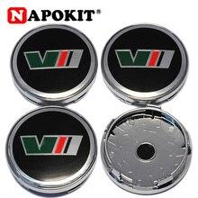 4 шт./лот, 60 мм, 3D логотип, колпачки на колеса автомобиля, Центральная Крышка колпака колеса для Skoda Octavia Fabia Superb Rapid Yeti, автомобильные обода