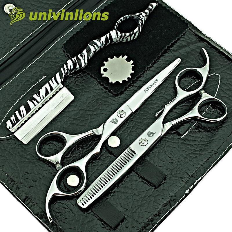 univinlions 6 pulgadas micro serrado tijeras de peluquería peluquería dientes pequeños tijeras de pelo profesional corte de pelo tijeras