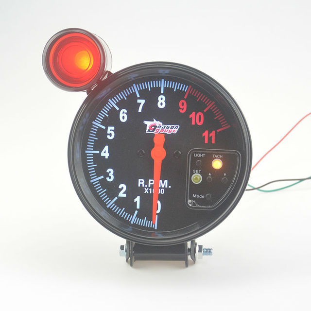 New 5  inch  Automotive Tachometer 7 Color backlight  Alarm function Car modification  Auto Gauge Free shipping