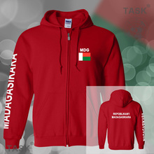Madagascar Malagasy mens hoodies and sweatshirt jerseys polo sweat suits streetwear tracksuit nations fleece zipper MDG MG 2017