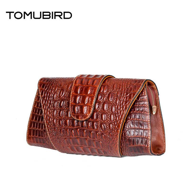 Famous brand top quality Cow Leather women bag new fashion clutch Crocodile pattern cowhide envelope bag Shoulder Messenger Bag