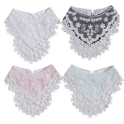 Helen115 Lovely Newborn Baby Bibs Burp Cotton Lace Bow Infant Saliva Towels Bib Baby