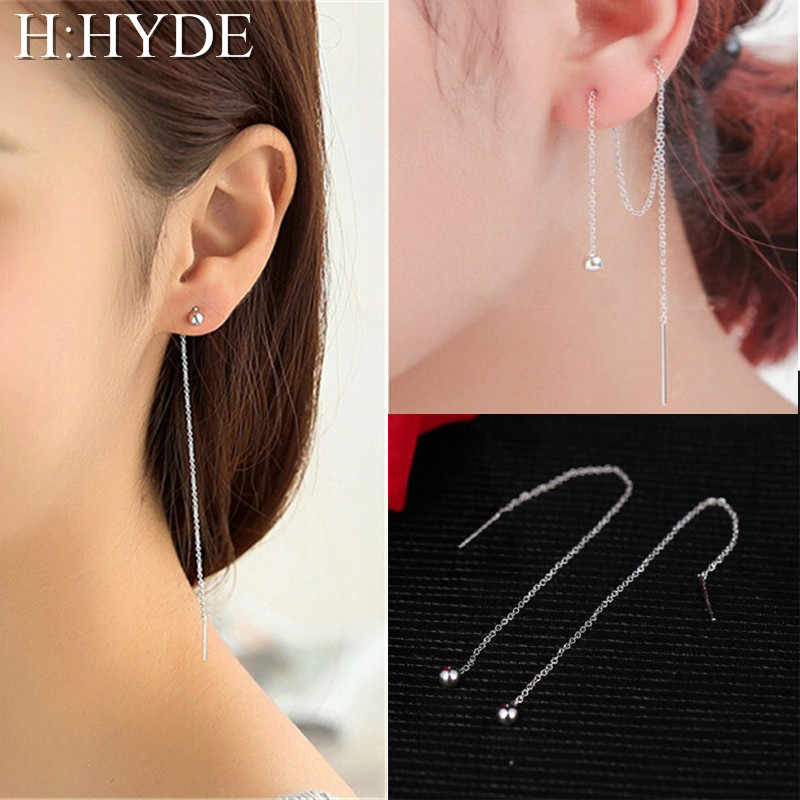 H:HYDE 2018 Hot Sell Accessories Vintage Pearl Personality Drop Earrings Tassel Jewelry Chain Long Earrings For Women Brincos DY