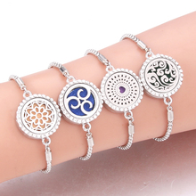 Hot Sale Full zircon Stainless Steel Aromatherapy Bracelet A