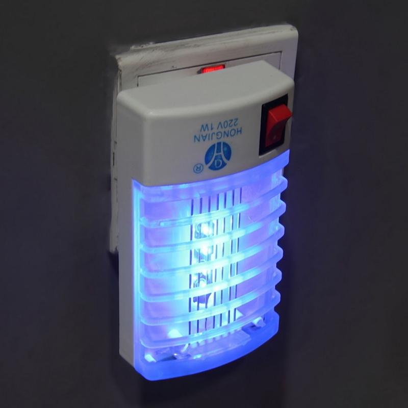 Adeeing 1Pcs 220V Socket Electric Mini Mosquito Lamp LED Insect Mosquito Repeller Killing Fly Bug Insect Night Housefly