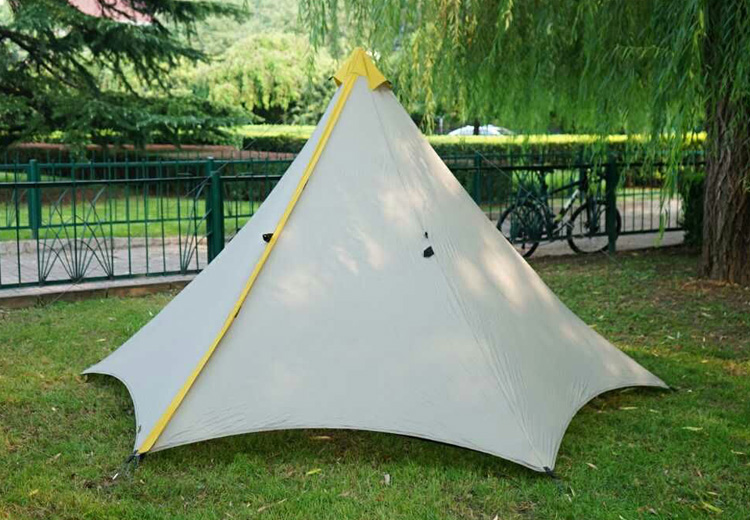 595G Camping Tent Ultralight 2-3Person Outdoor 20D Nylon Both Sides Silicon Coating Rodless Pyramid Large Tent Camping 3 Season 995g camping inner tent ultralight 3 4 person outdoor 20d nylon sides silicon coating rodless pyramid large tent campin 3 season
