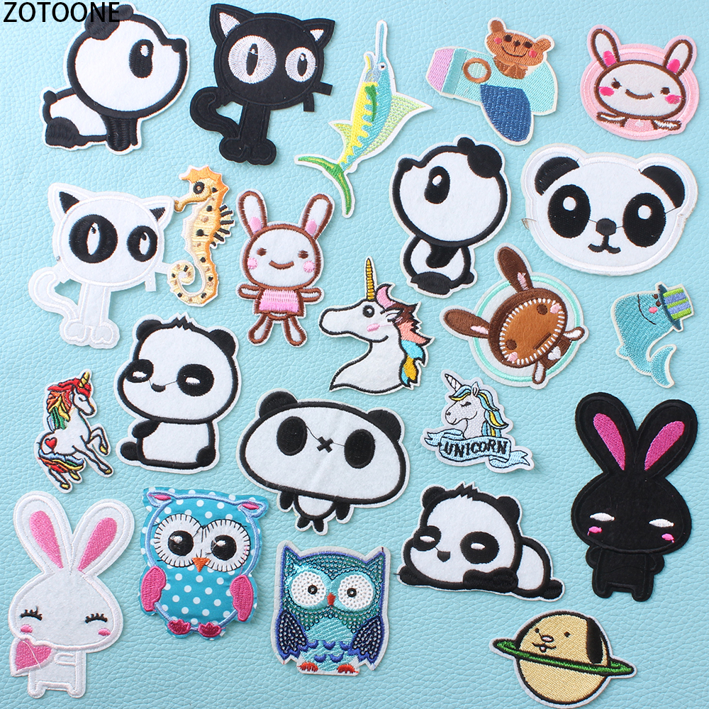 ZOTOONE Colorful Animal Unicorn Patches for Clothing Embroidery Patch Clothes Garment Badges Applications Stickers Appliques