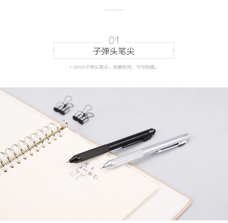 Metal multi função 3 cor caneta bola