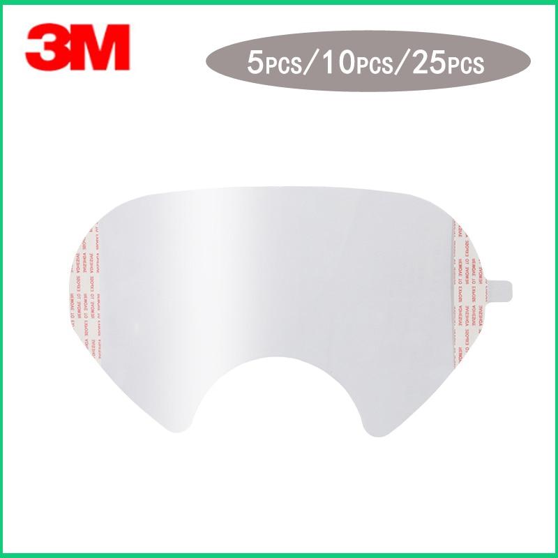 5/10/25 teile/paket 3 M 6885 Gas Maske Schutz film/ATEMSCHUTZ OBJEKTIV ABDECKUNG VERWENDEN Für 3 M 6800 Staub Maske
