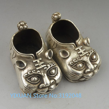 TNUKK  Antique brass copper Cupronickel collection tiger shoes Home Furnishing decorative handicrafts.