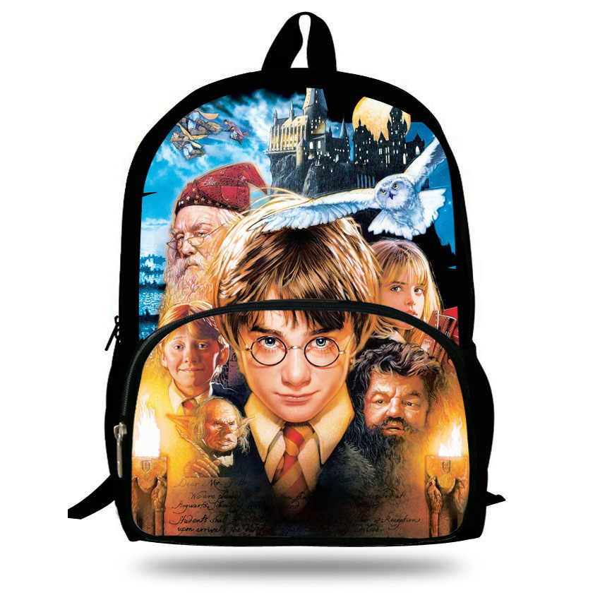 f6ed4082f5bf 16-inch Mochila Harry Potter Backpack Teenagers Children School Bags For Boys  Casual Daypack Harry