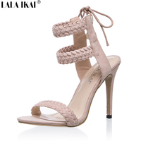 Women High Heel Sandals Summer Open Toe Ankle Strap Buckle Pump Girl Sexy Party Beach Shoes