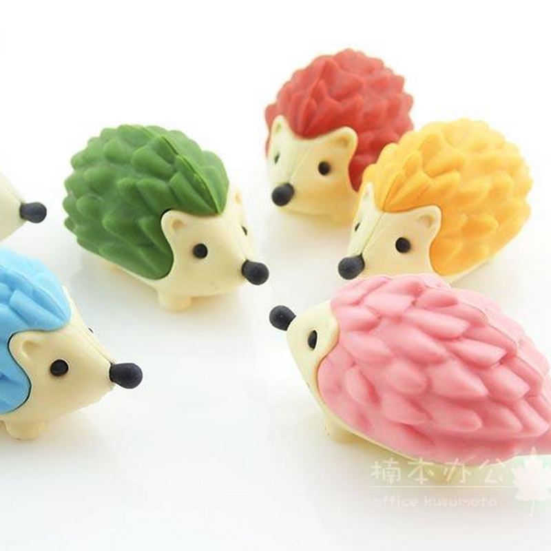 Hedgehog Modeling Mini Eraser Grape Eraser Creative Kawaii Stationery School Supplies Papelaria Gift For Kids