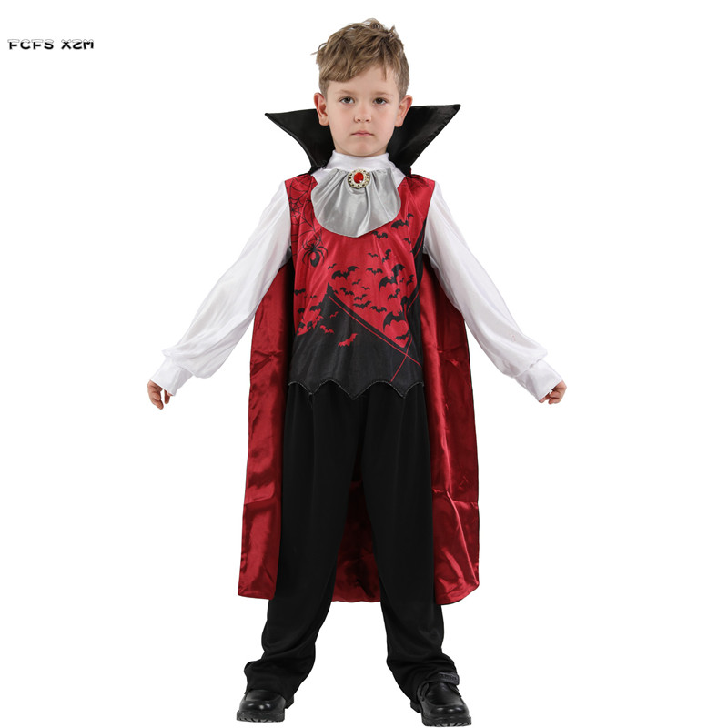Halloween Costumes For Kids Scary.Us 19 13 34 Off Boys Halloween Vampire Scary Costumes Children Kids Devil Demon Dracula Cosplays Carnival Purim Masquerade Role Play Party Dress In
