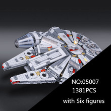 In Stock 05007 Star Series War Building Blocks Force Awakens Millennium 75105 Falcon Model Toys For Kid Christmas Gift