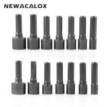 NEWACALOX Chrome Vanadium Steel Power Nutdriver SAE Metric Nut Driver Set 1/4″ Shank Hex Screwdrivers Hand Tools Set