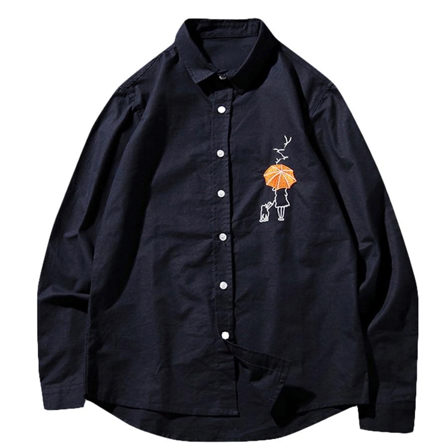 Принт Для мужчин рубашка Лето с длинным рукавом Забавный Slim Fit 5xl Для мужчин рубашки 2019 модные черные гавайская рубашка дешевая одежда из Кит