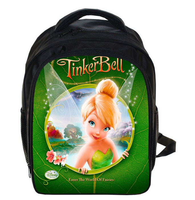 13 Inch Cartoon Tinker Bell School Bags for Kindergarten Children kids School Backpack for Girls Childrens Backpacks Mochila