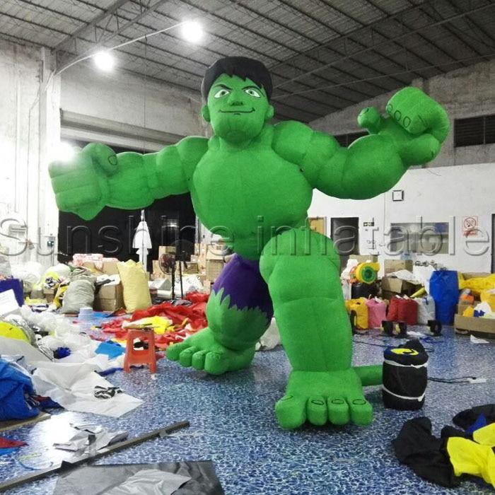 Թեժ վաճառք The Avengers փչովի կապիտան ամերիկացին փչացնում է Hulkinflatable կանաչ տղամարդու ծաղրանկարների մոդելը `զարդարման համար
