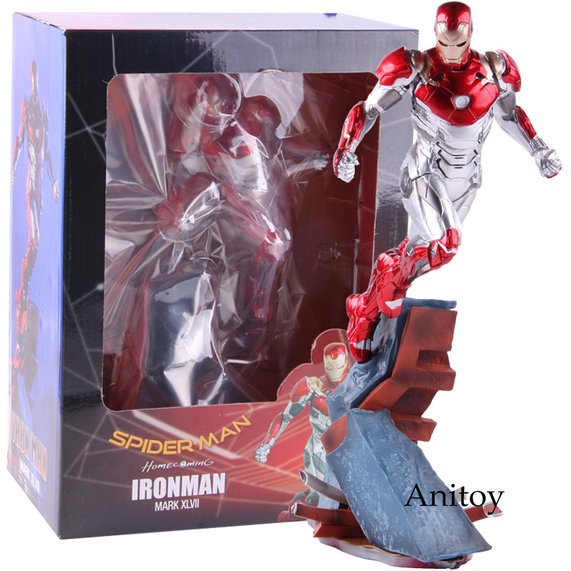 Marvel Spider-Man Homecoming Ironman Mark XLVII Iron Man MK47 1/10 Scale PVC Figure Collectible Model Toy