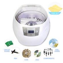 Ультразвуковой очиститель 0.75L бак 35 Вт 42 кГц корзины ювелирные изделия часы инжектор кольцо Стоматологическая печатная плата цифровой ультразвуковой мини очиститель для ванной