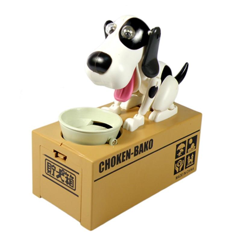 Unids 1 unidad de caja de ahorro de dinero para perros robótica BANCO DE dinero automático de monedas hucha Moneybox regalos de juguete para el Día de los niños